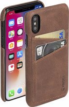 Krusell Sunne 2 Card iPhone X Back Cover Donkerbruin