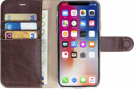 Krusell Ekero 2 in 1 Wallet iPhone X Book Case Bruin