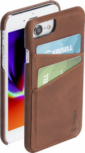 Krusell Sunne 2 Card iPhone 8 Back Cover Bruin