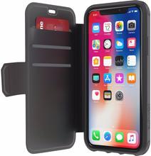 Griffin Survivor Strong Wallet iPhone X Book Case Zwart