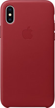 Apple iPhone X Leather Back Cover Rood