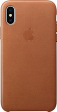 Apple iPhone X Leather Back Cover Bruin