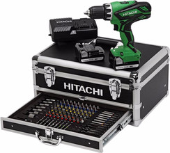 Hitachi DS14DJL + 100-delige Toolbox