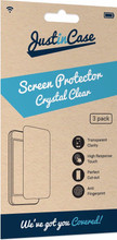 Just in Case Moto G5s Screenprotector Plastic Triple Pack