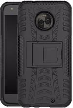 Just in Case Rugged Hybrid Motorola Moto X4 Back Cover Zwart