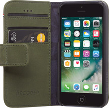 Decoded Leather Wallet iPhone 5/5S/SE Book Case Groen