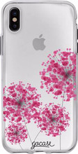 GoCase TPU iPhone X Back Cover Pink Bubbles