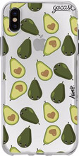 GoCase TPU iPhone X Back Cover Happy Avocados