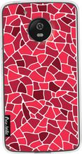 Casetastic Softcover Motorola Moto G5 Red Mosaic