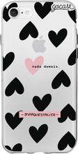 GoCase TPU iPhone 7/8 Back Cover Black Hearts