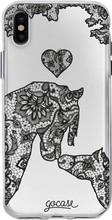GoCase TPU iPhone X Back Cover Lace Horses