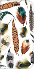 Casetastic Wallet Apple iPhone X Feathers Multi Wit