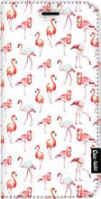 Casetastic Wallet iPhone 8 Plus Book Case Flamingo Party Wit