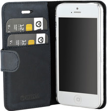 Valenta Classic Luxe Vintage iPhone 5/5S/SE Book Case Blauw