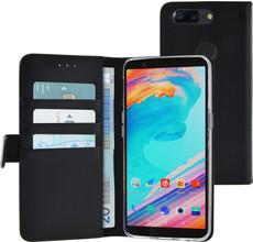 Azuri Wallet Magneet Oneplus 5T Book Case Zwart