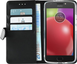 Azuri Wallet Magneet Moto E4 Book Case Zwart