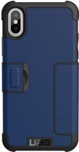 UAG Metropolis Cobalt iPhone X Book Case Blauw