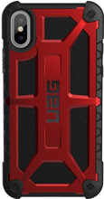 UAG Monarch Crimson iPhone X Back Cover Rood