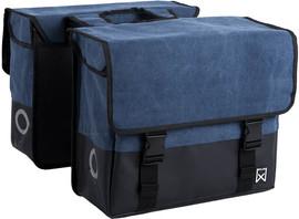 Willex Dubbele Canvas Tas Plus 40L Blauw/Matzwart