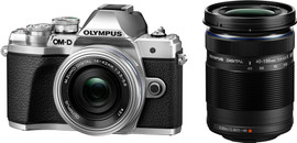 Olympus E-M10 MIII Body Zilver + 14-42mm + 40-150mm Zwart