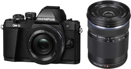 Olympus E-M10 Mark II Body Zwart + 14-42mm EZ + 40-150mm