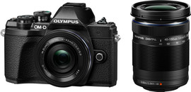 Olympus E-M10 Mark III Body Zwart + 14-42mm EZ + 40-150mm R