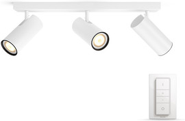 Philips Hue Buratto 3-Spot Wit met dimmer