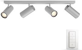 Philips Hue Buratto 4-Spot Grijs met dimmer