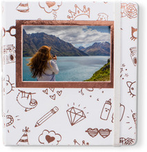 HP Sprocket Gold and White Album
