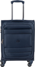 Delsey Indiscrete Soft 4 Wheel Slim Cabin Trolley 55cm Navy