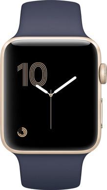 Apple Watch Series 1 38mm Goud Aluminium/Middernachtblauw Sportband