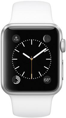 Apple Watch Series 2 38mm Zilver Aluminium/Witte Sportband