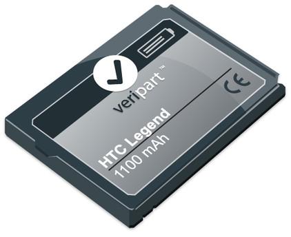 Veripart Battery HTC Legend / Wildfire 1100 mAh + Thuislader