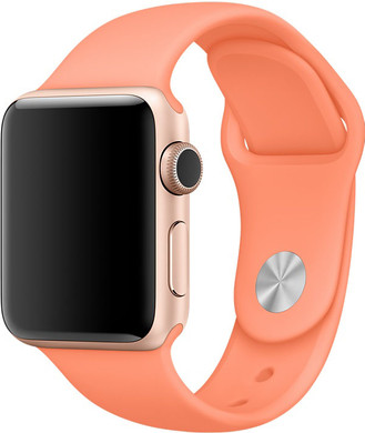Apple Watch 42mm Siliconen Horlogeband Sport Perzik