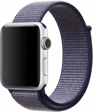 Apple Watch 42mm Nylon Sport Loop Horlogeband Blauw