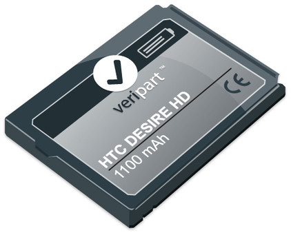 Veripart Battery HTC Desire HD 1100 mAh + Thuislader