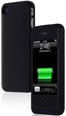 Incipio OffGrid Battery Case Black iPhone 4/4S + Thuislader