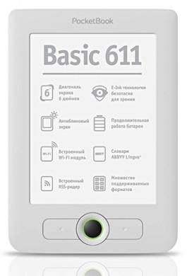 PocketBook 611 eReader Matte White + Thuislader