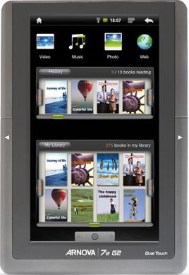 Archos Dual Touch 7e + Case + Thuislader