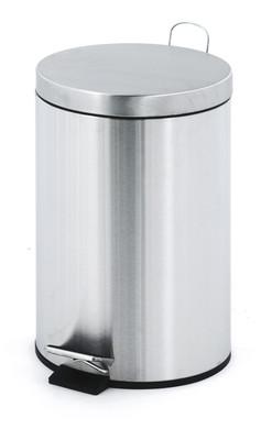 EKO Pedaalemmer 12 Liter Chroom