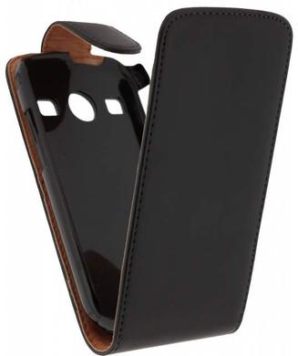 Xccess Leather Flip Case Samsung Galaxy Xcover 2 Zwart