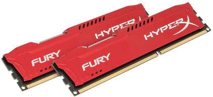 Kingston HyperX FURY 8 GB DIMM DDR3-1600 rood 2 x 4 GB
