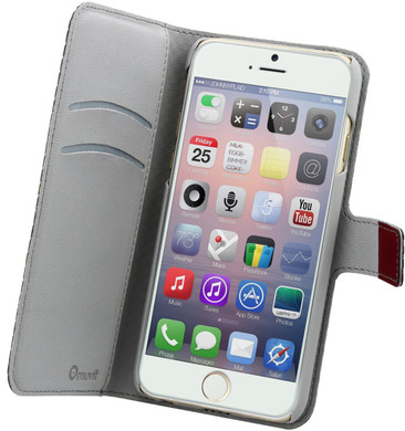 Muvit Wallet Apple iPhone 6/6s Book Case Rood