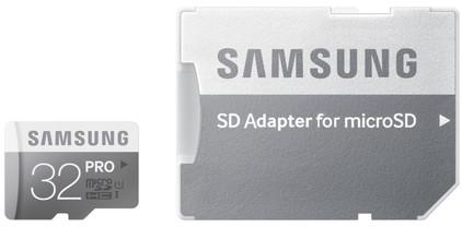 Samsung microSDHC Pro 32 GB Class 10 + SD Adapter