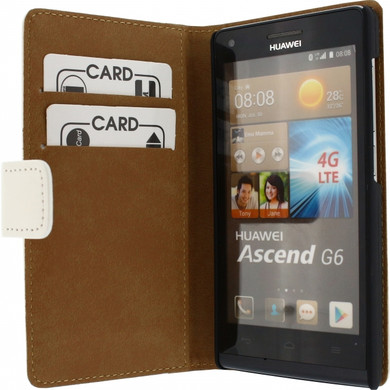 Mobilize Slim Wallet Book Case Huawei Ascend G6 4G Wit