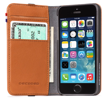 Decoded Leather Wallet Apple iPhone 5/5S/SE Brown