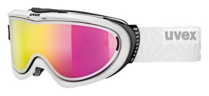 Uvex Comanche TOP White + LTM Pink & Polavision Clear Lenzen