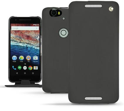Noreve Tradition Leather Case Huawei Nexus 6P Zwart