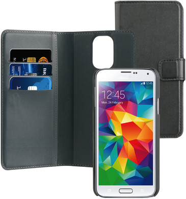 BeHello 2-in-1 Wallet Case Samsung Galaxy S5 / S5 Neo Zwart
