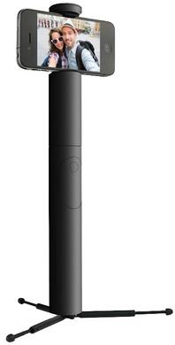 Cliquefie Max Selfie Stick bluetooth afstandsbediening Zwart